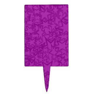 Artsy Purple Stars Cake Topper