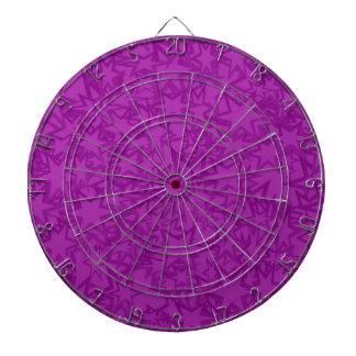Artsy Purple Stars Dartboard With Darts