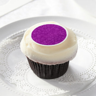 Artsy Purple Stars Edible Frosting Rounds