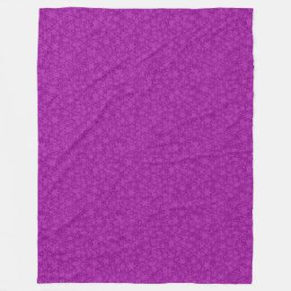 Artsy Purple Stars Fleece Blanket