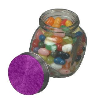 Artsy Purple Stars Glass Candy Jar