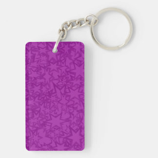 Artsy Purple Stars Keychain