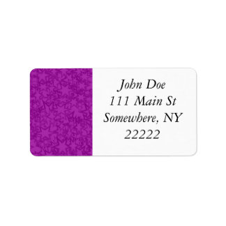 Artsy Purple Stars Label