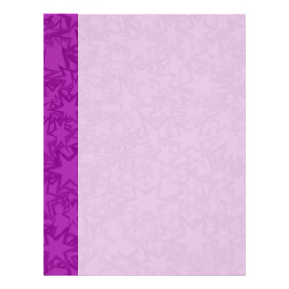 Artsy Purple Stars Letterhead