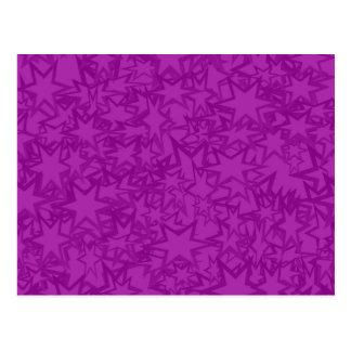 Artsy Purple Stars Postcard