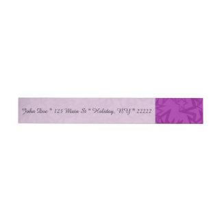 Artsy Purple Stars Wrap Around Address Label