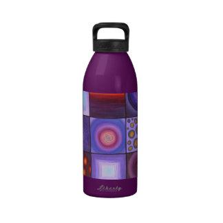 Artsy Purple Water Bottle
