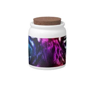 Artsy Rainbow Tiger Candy Jars