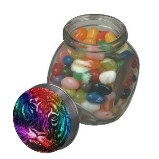 Artsy Rainbow Tiger Jelly Belly Candy Jars