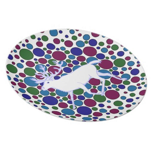 Artsy Reindeer Christmas Holiday Party Plate