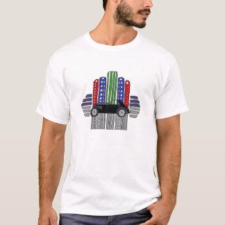 Artsy Retro Car and Buildings T-Shirt