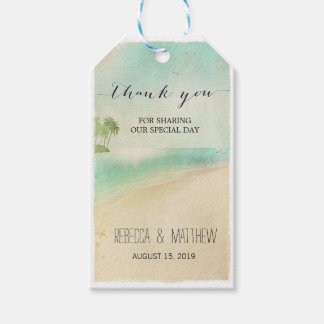 Artsy Retro Vintage Peaceful Beach Wedding Gift Ta Gift Tags
