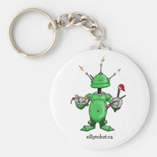 Artsy Robot! Basic Round Button Keychain