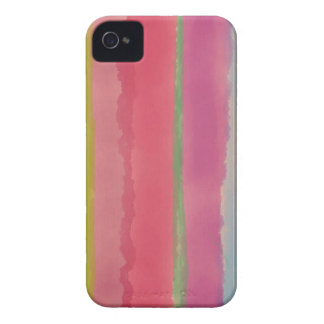 Artsy Rose Watercolor Stripes Case-Mate iPhone 4 Case