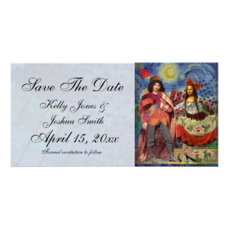 Artsy Save the date fanciful wedding announcement