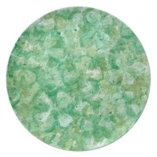 Artsy Shamrock Art Plate