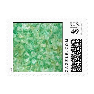 Artsy Shamrock Art Postage Stamps