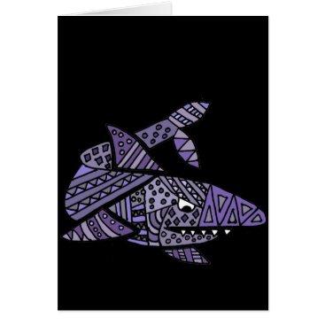 Beach Themed Artsy Shark Card