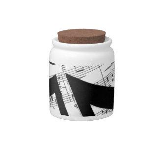 Artsy Sheet Music Candy Jar