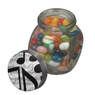 Artsy Sheet Music Glass Candy Jar