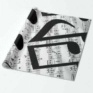 Artsy Sheet Music Wrapping Paper