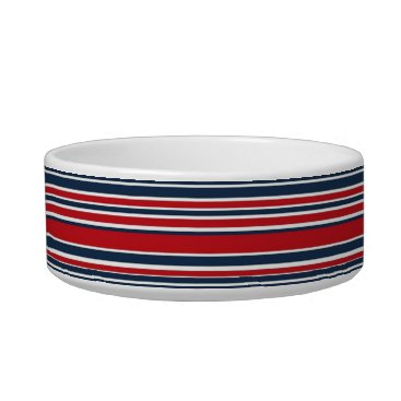 USA Themed Artsy Stripes in Patriotic Red White and Blue Bowl