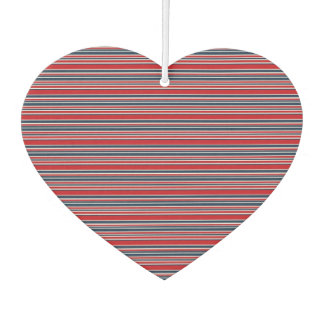 Artsy Stripes in Patriotic Red White and Blue Car Air Freshener