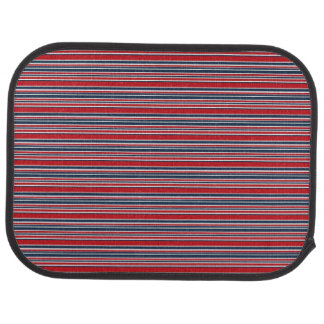 Artsy Stripes in Patriotic Red White and Blue Car Floor Mat