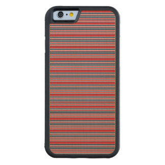Artsy Stripes in Patriotic Red White and Blue Carved® Maple iPhone 6 Bumper