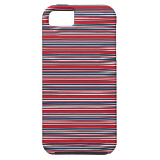 Artsy Stripes in Patriotic Red White and Blue iPhone SE/5/5s Case