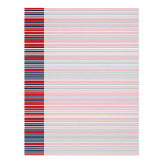 Artsy Stripes in Patriotic Red White and Blue Letterhead