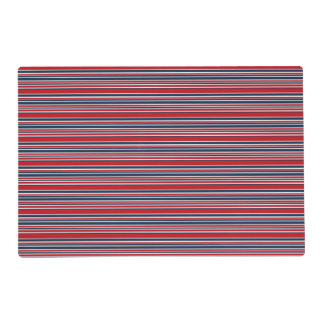 Artsy Stripes in Patriotic Red White and Blue Placemat