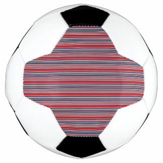 Artsy Stripes in Patriotic Red White and Blue Soccer Ball