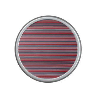 Artsy Stripes in Patriotic Red White and Blue Speaker