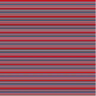 Artsy Stripes in Patriotic Red White and Blue Statuette