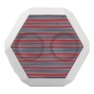 Artsy Stripes in Patriotic Red White and Blue White Bluetooth Speaker