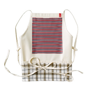 Artsy Stripes in Patriotic Red White and Blue Zazzle HEART Apron