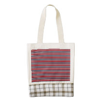 Artsy Stripes in Patriotic Red White and Blue Zazzle HEART Tote Bag