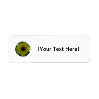 Artsy Sunflower Label