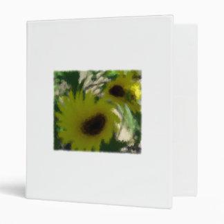 Artsy Sunflowers 3 Ring Binder