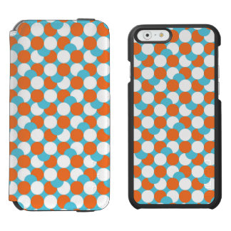 Artsy Teal & Orange Circles iPhone 6/6s Wallet Case