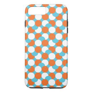 Artsy Teal & Orange Circles iPhone 7 Plus Case