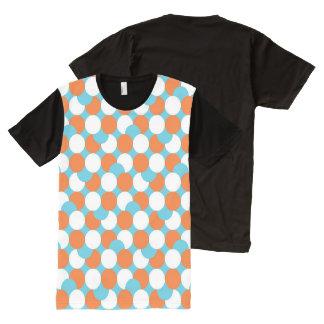 Artsy Teal & Orange Circles All-Over Print T-shirt