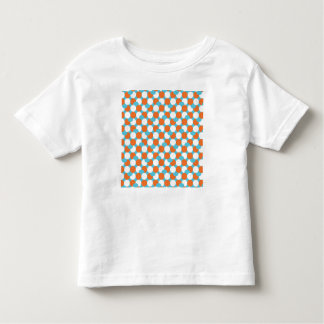 Artsy Teal & Orange Circles Tee Shirts