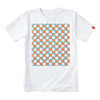 Artsy Teal & Orange Circles Zazzle HEART T-Shirt