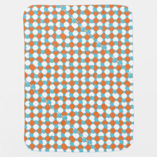 Artsy Teal & Orange Circles Swaddle Blankets