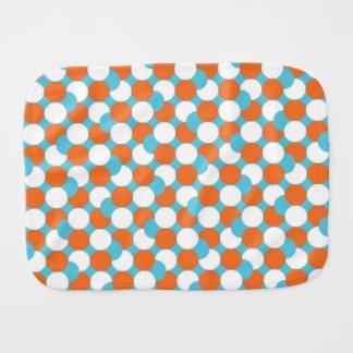 Artsy Teal & Orange Circles Burp Cloths