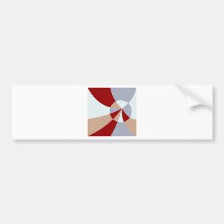 Artsy Tessellation Car Bumper Sticker