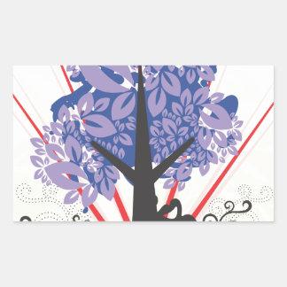 Artsy Tree Rectangular Sticker