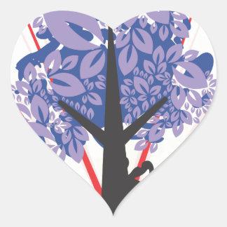 Artsy Tree Heart Sticker